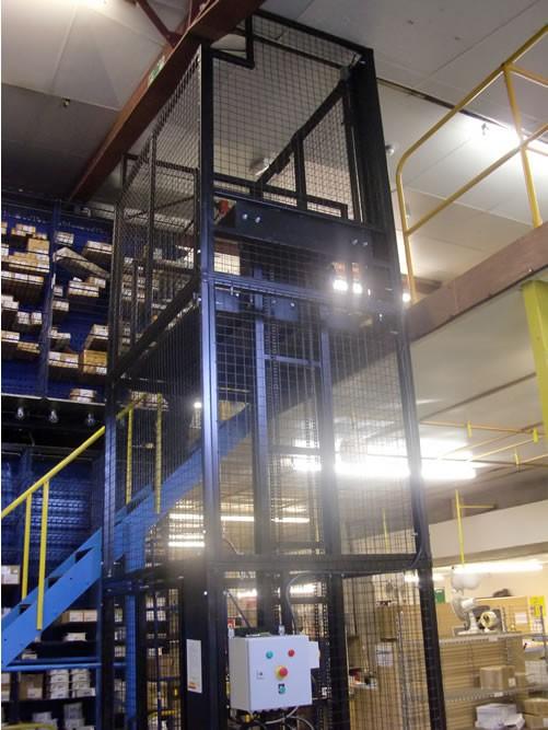 Mezzanine Floor Lift Goods Lift Installed in Wisbech