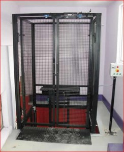 MezzLift Floor Lift, Three Stop Goods Lift (250kg) installed at Bryant Broadcast, Croydon