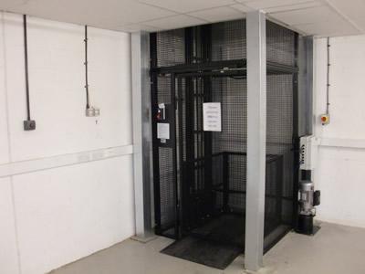 Mezz Lift, 250kg installed Newport Pagnell, Milton Keynes