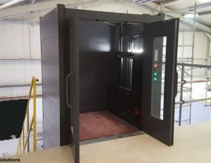 Cladded Mezzanine Goods Lift Stockton-on-Tees Cleveland