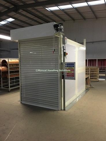Mezzanine Goods Lift Chesterfield Roller Shutter Door