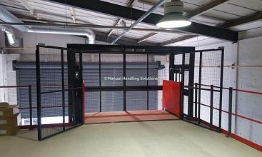 Large 1000kg Mezzanine Goods Lift Park Royal Londo