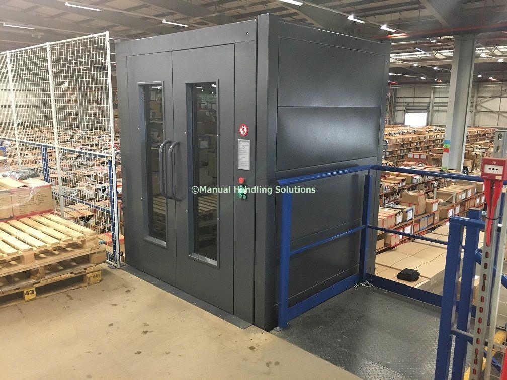 Goods Lift Leicester Mezzanine Goods Lift 500kg Installed