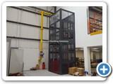 Mesh Enclosed Mezzanine Goods Lift London