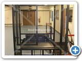 Goods Lift installed at Deben UK Ltd Small Waist Height