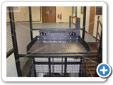 Small Waist Height Goods Lif installed in tDeben UK Ltd