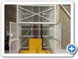 Goods Lift with a total raised height of 11,543mm and a lift capacity of 1000kg installed in Norfolk