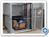 galvanized goods lift 2000kg