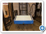 Cellar Lift with Roller Conveyor by Manual Handling Solutions