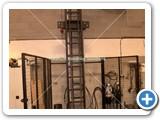 MHS Cellar Lift with Roller Conveyor